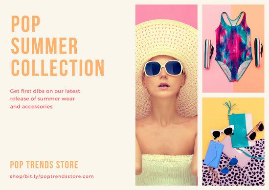 Pop Photos Summer Wear Direct Mail Postcard