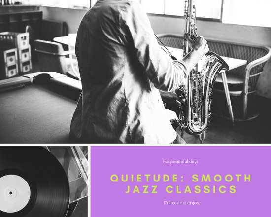 Purple Jazz Music Photo Collage