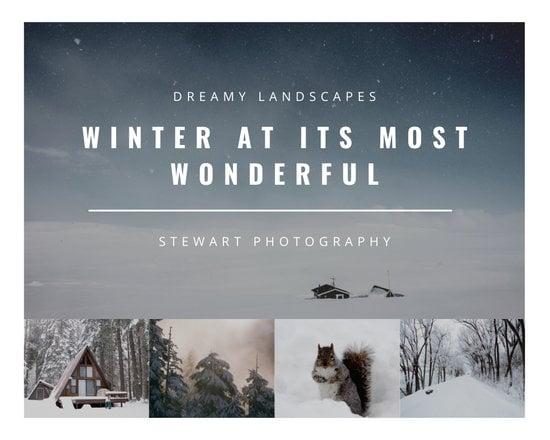White Winter Photo Collage