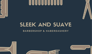 Dark Teal Hair Cut Tools Icons Barber Business Card