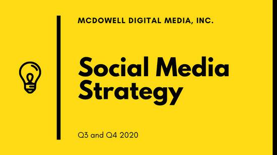 Yellow Modern Creative Corporate Social Media Strategy Presentation