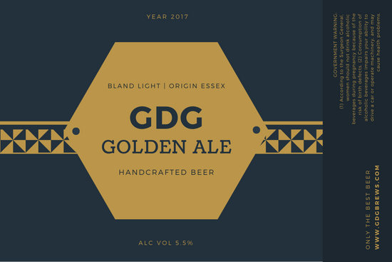 Blue Gold Beer Product Label