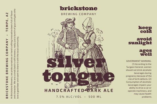 Beige Vintage Illustration Beer Label
