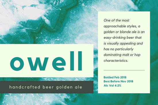 Green Blue Geode Beer Label