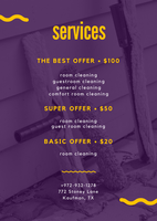 Violet and Yellow Window Cleaning Flyer