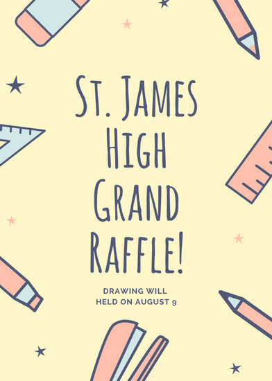 raffle wording on flyer