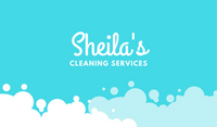 White Bubbles on Turquoise Cleaning Business Card