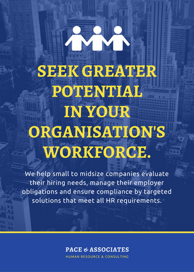 blue city photo human resources corporate flyer