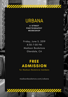 Monochromatic Urban Photography Background Workshop Flyer