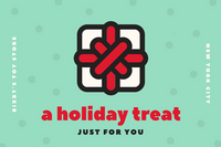 Green Polka Dots Christmas Holiday Toy Store Gift Certificate