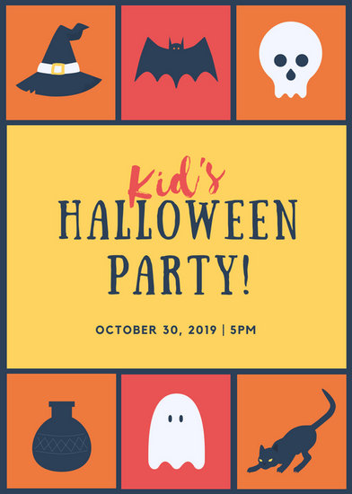kids halloween party flyer templates free koni polycode co