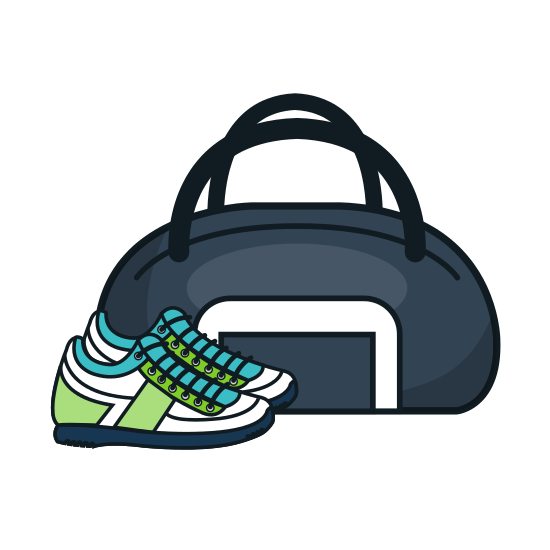 Gym Bag and Shoes