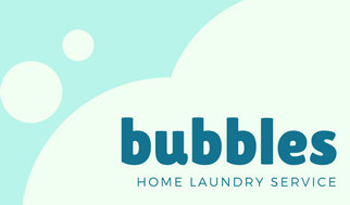 Blue Bubbles Home Laundry Service Cleaning Wash Business Card