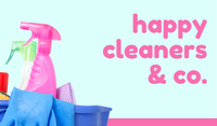 Blue Pink Happy Cleaning Business Card