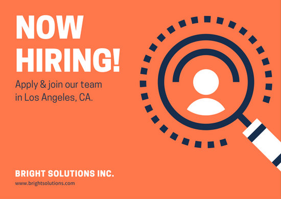 orange now hiring direct mail postcard templates by canva. Black Bedroom Furniture Sets. Home Design Ideas