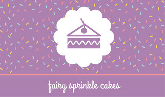 Purple with colourful sprinkles cake business card templates by canva purple with colourful sprinkles cake business card wajeb Choice Image