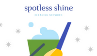 White Bucket with Mop Vector and Stars Cleaning Business Card
