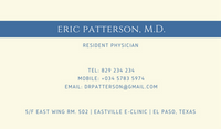 Cream and Blue Medical Business Card