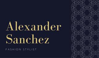 Navy blue elegant stylist luxury classy business card templates by navy blue elegant stylist luxury classy business card colourmoves Gallery