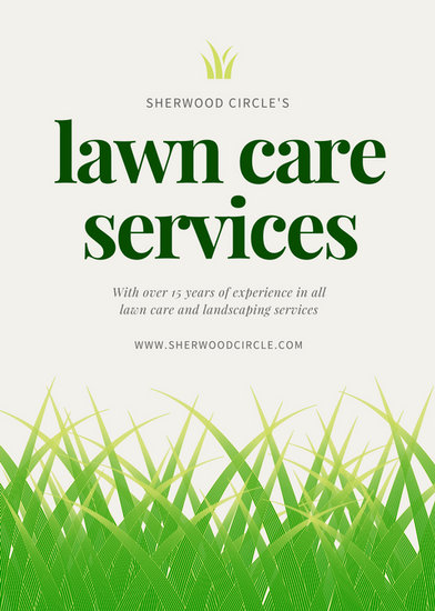 green illustrated grass landscape flyer