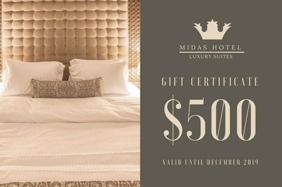 hotel gift certificate template