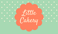 Coral Teal Floral shape Dots Cupcake Business Card