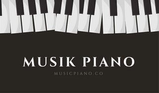 Black and white piano keys teacher business card templates by canva black and white piano keys teacher business card colourmoves