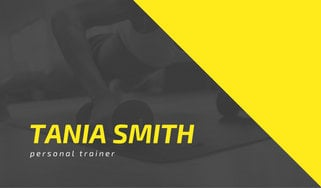 Yellow and gray personal training business card templates by canva yellow and gray personal training business card fbccfo Images