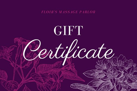 Violet floral massage gift certificate templates by canva yadclub Images