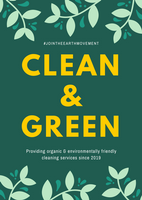 Green Leaves Border Cleaning Flyer