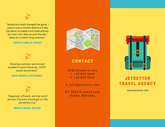 Colorful Travel Agency Brochure  Templates By Canva
