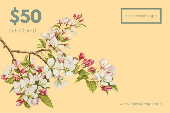 Peach floral massage gift certificate templates by canva yadclub Images