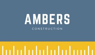 Yellow ruler construction business card templates by canva yellow ruler construction business card colourmoves