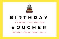 Yellow Black Modern Birthday Gift Certificate