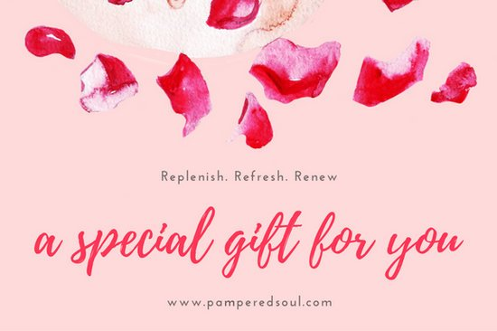 Red Rose Petals Pink Spa Gift Certificate Templates By Canva