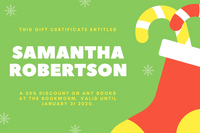 Green, Red and Yellow Christmas Gift Certificate