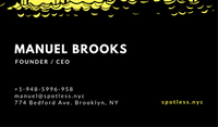 Black and Yellow Cleaning Services Business Card