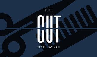 Dark blue scissors and comb icon hair salon business card dark blue scissors and comb icon hair salon business card colourmoves
