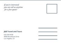 Dark Slate Gray San Francisco Travel Direct Mail Postcard