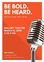 Orange Microphone Talent Show Flyer