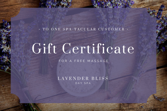 Lavender floral massage gift certificate templates by canva yadclub Images