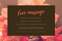 Brown Floral Massage Gift Certificate