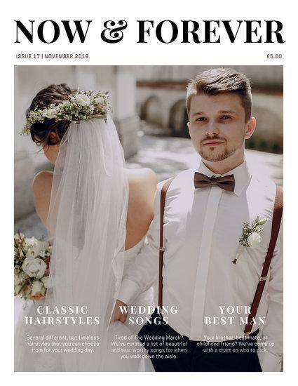 White simple photo wedding magazine templates by canva white simple photo wedding magazine junglespirit Images