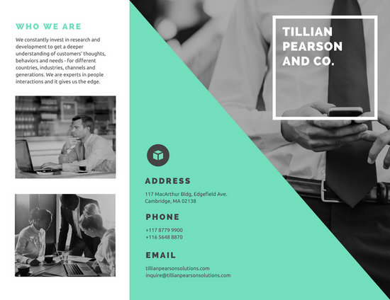 Green And Monochrome Photo Company Brochure  Templates By Canva