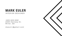 Black and White Outlined Interior Design Simple Business Card