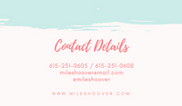 Coral and Mint Chic Brush Strokes Actor Business Card