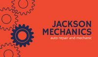 Orange Gears Automotive Business Card