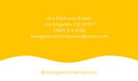 Yellow Minimalist Chiropractic Business Card