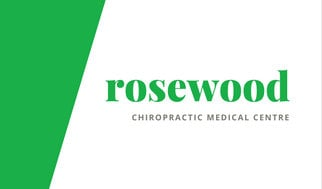 Green and White Simple Chiropractic Business Card