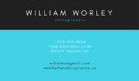 Black and Turquoise Medical Icon Chiropractic Business Card